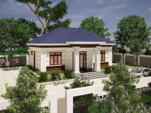 Thiết kế nhà vườn 1 tầng