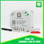 Công tắc Hunonic Lahu 2 kênh (500W/1 kênh)
