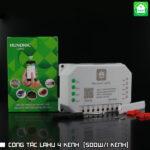 Công tắc Hunonic Lahu 4 kênh (500W/1 kênh)