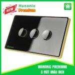 Hunonic Premium 3 Nút Màu Đen