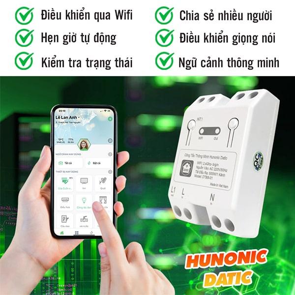 cong tac thong minh wifi hunonic datic 10