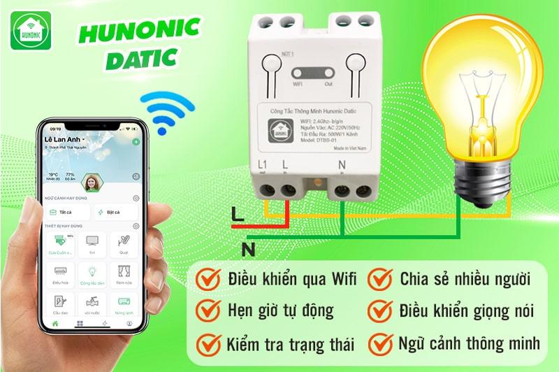 cong tac thong minh wifi hunonic datic 11