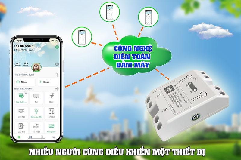 cong tac thong minh wifi hunonic datic 4